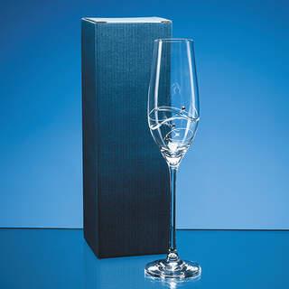 Blue Tall Champagne Flute Skillet Box