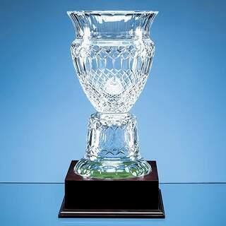 33cm Lead Crystal Footed Trophy Vase