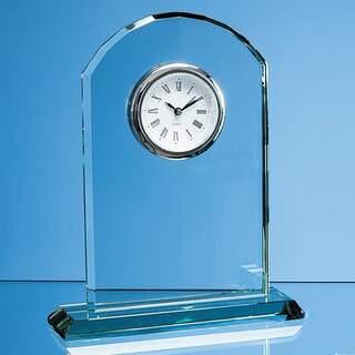 19.5cm Jade Glass Arch Clock