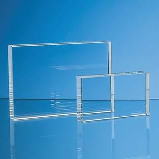 7.5cm x 12.5cm Optical Crystal Rectangle Award  H or V