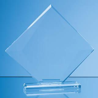 15.5cm x 18cm x 10mm Clear Glass Vision Diamond Award in a Gift Box