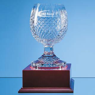 23cm Lead Crystal Footed Presentation Bowl