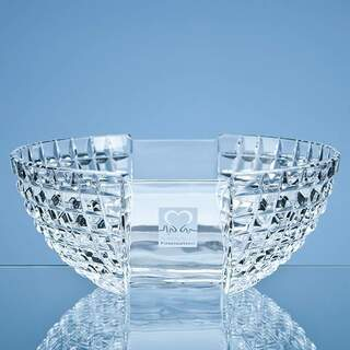 23cm Mario Cioni Lead Crystal Luxe Bowl