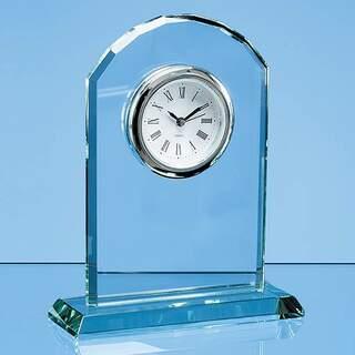 17cm Jade Glass Arch Clock