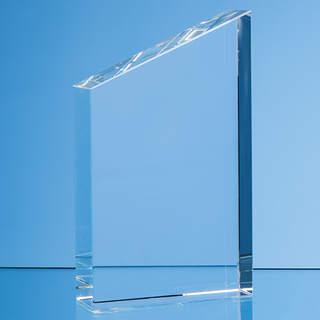 15.5cm Optical Crystal Diagonal Slope Award