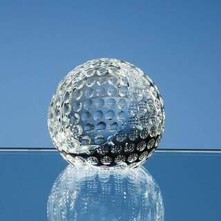 6cm Optical Crystal Golf Ball Paperweight