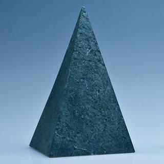 15cm Green Marble 4 Sided Pyramid Award
