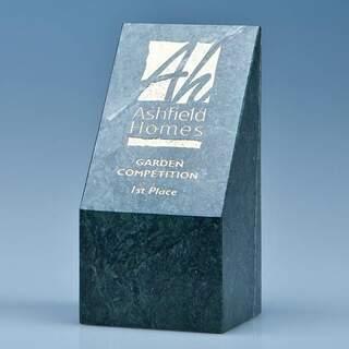 15cm Green Marble Slope Award